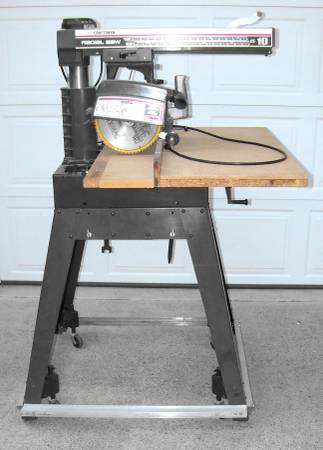 Photo Radial Arm Saw Sears Craftsman 10 Inch  Rolling Base Great Shape - $150 (Jefferson City)
