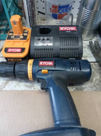 Photo Ryobi Drill and Accessories - $20 (Helena)