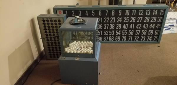 Photo Tables, chairs, barstools, bingo machine - $1,234 (Helena)