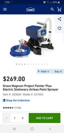 Photo Airless Paint Sprayer - $150 (Vale)
