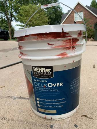 Photo Behr Textured Paint For Wood Deck Concrete in Barn Red - $10 (Hickory, NC)