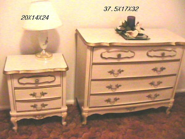Photo French Provencial Bed Set, Brass Double Bed - $500 (Morganton, NC)