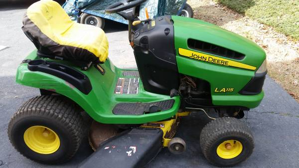 Photo John deer LA 115 riding mower - $600 (Morganton)