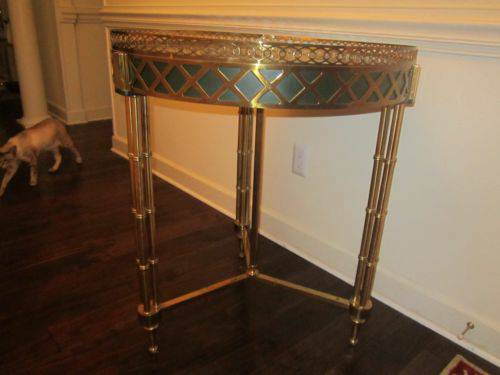 Photo Maitland Smith Louis XVI Table retail $3,906 LaBarge - $1400 (Hickory NC)