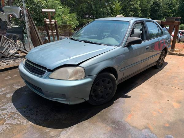 Photo PARTING OUT 00 HONDA CIVIC DX 1.6 GOOD TRANSMISSION PARTS CAR CALL US (FOREST CITY NC)