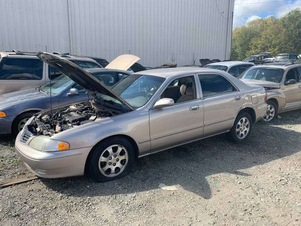Photo PARTING OUT 02 MAZDA 626 2.0 AUTO GOOD ENGINE TRANSMISSION (FOREST CITY NC)