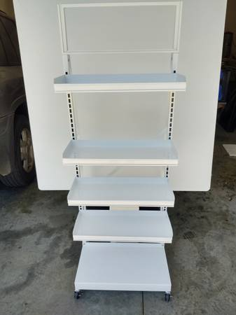 Photo Retail Display Shelving on Casters - $150 (Salisbury)