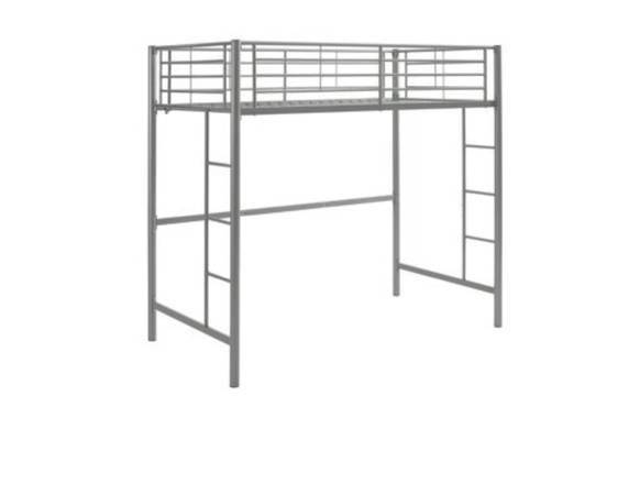 Photo Twin loft bed metal - $80 (Cajahs MtnLenoir)