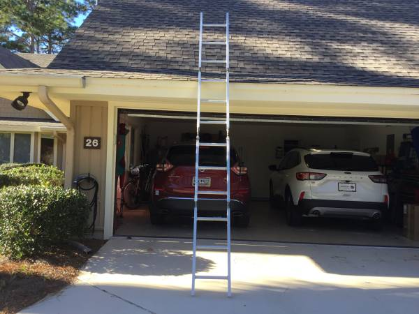 Photo 12 ft Aluminum Folding Ladder - $75 (Hilton Head)