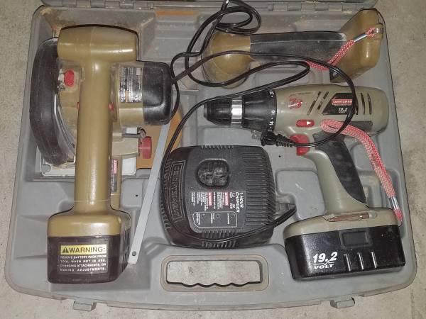 Photo Craftsman tool set drill saw etc - $50 (Mt pleasant)