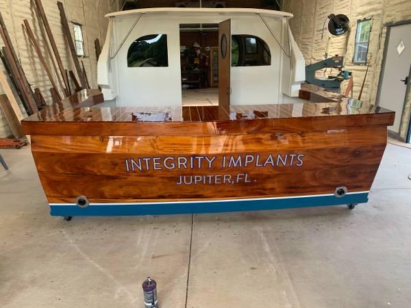 Photo Custom Built Boat Bar receptionist desk (Lexington, NC)