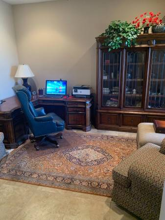 Photo Desk and leather chair - $1,200 (Hton Hall)