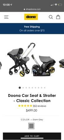 Photo Doona Car Seat  Stroller - $100 (Hilton Head Island)