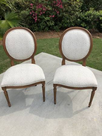 Photo Ethan Allen pair of dining chairs - $560 (HILTON HEAD ISLAND)