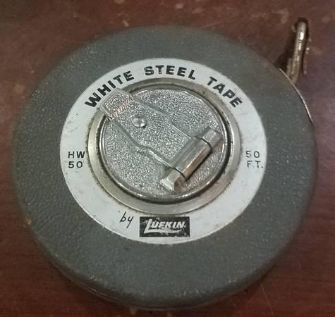 Photo Lufkin white steel 50ft tape measure - $10 (Mt pleasant)