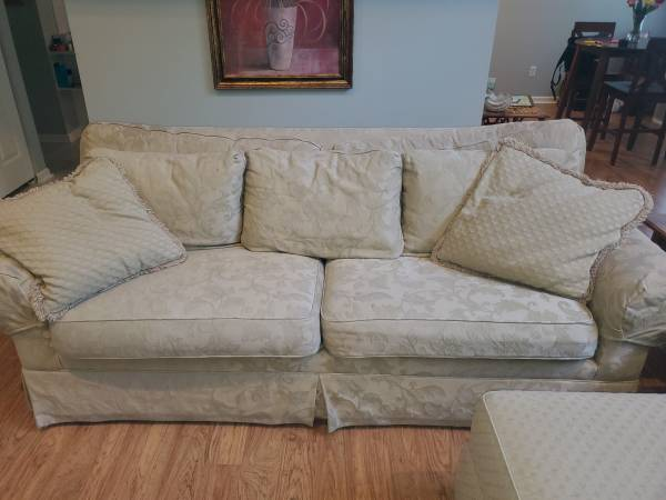 Photo Sofa and Chair with ottoman - $150 (Bluffton)