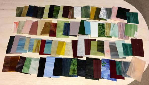 Photo Stained Glass 10 pounds assorted colors and types Great for orna - $90 (Bluffton)