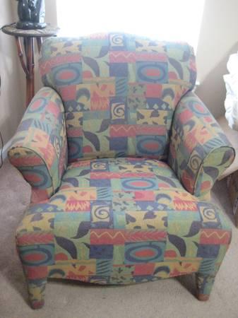 Photo Vintage overstuffed Pier One Arm Chair - $155 (Bluffton)