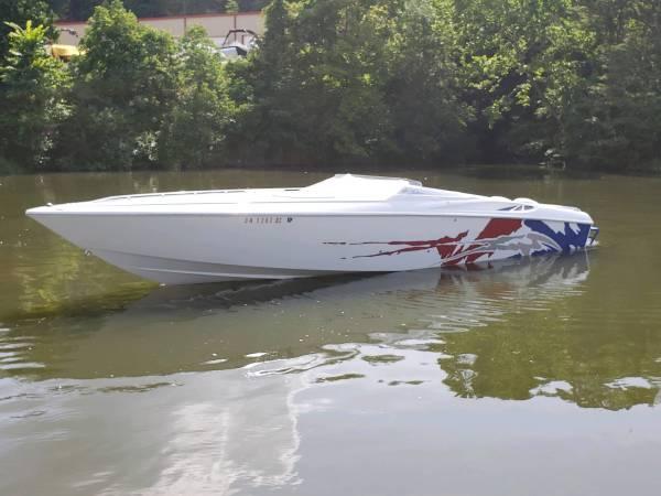 Photo Boat 2003 Baja Outlaw SST 33ft twin merc 496 - $54,500 (Fennville)
