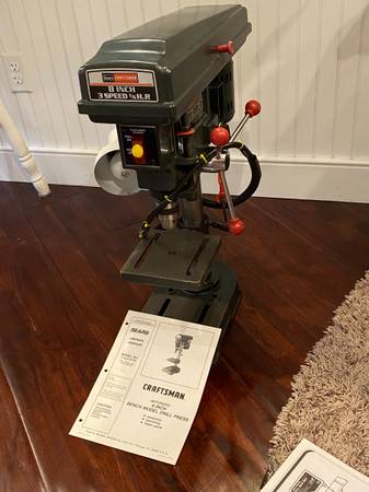 Photo CRAFTSMAN 8 in. DRILL PRESS - $85 (Hamilton)