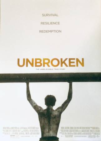 Photo FREE Unbroken movie poster L40quotx W27quot - perfect condition (Michigan City, IN)