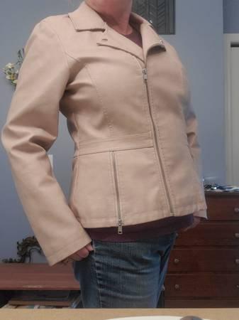 Photo Faux Leather Jacket - $50 (Holland)