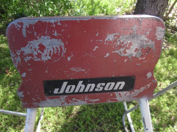 Photo Johnson and Gale outboard showroom motor stands (mishawaka, IN)