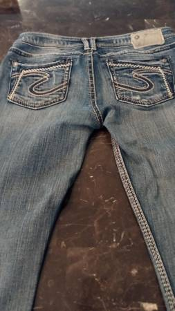 Photo Ladies Silver Jeans - $20 (Holland, MI)