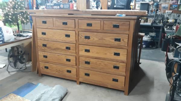 Photo Large Oak Dresser w stacking TV Storage pc. - $500 (Fennville)
