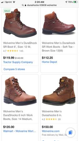 Photo Mens US 10.5 Wolverine Work boots winter boots - $40 (Macatawa)