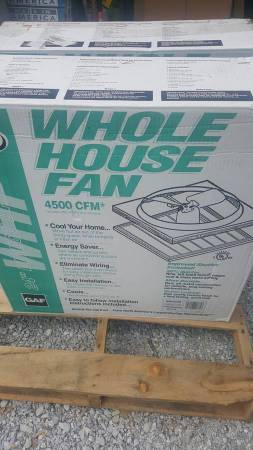 Photo New 4500 CFM 24quot Direct Drive Whole House Fan W Shutter 75 Off - $65 (Bass Lake)