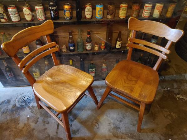 Photo Old Hickory dining chairs - $75 (Holland)