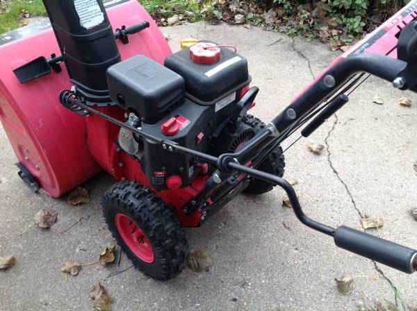 Photo TWO STAGE GAS SNOW THROWER - $200 (SWAN LAKE, SW of Allegan)
