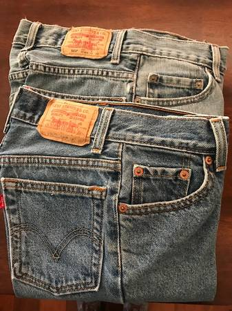 Photo 2 pairs of LEVIS BOYS JEANS (size 10 slim) - Immaculate condition - $10 (New OrleansDestrehan)