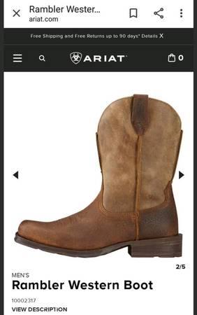 Photo Ariat boots Rambler style, like newopen box. - $90 (Metairie)