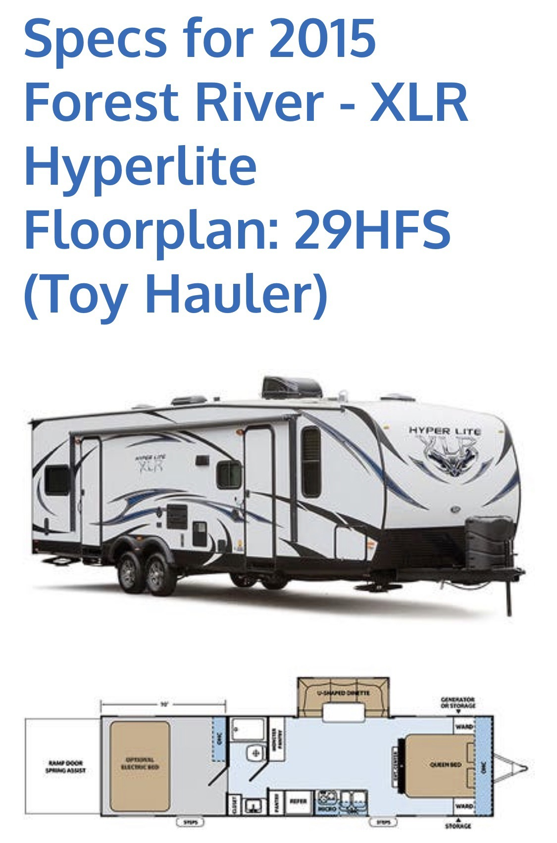 Photo 2015 Forest River XLR HYPERLITE $ 24900     Get Financing as low as 268.92mo      Get Financing as low as 268.92mo