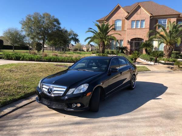 Photo 2010 Mercedes Benz E350 Black Low miles 0 accident Clean title - $9,800 (Houston)