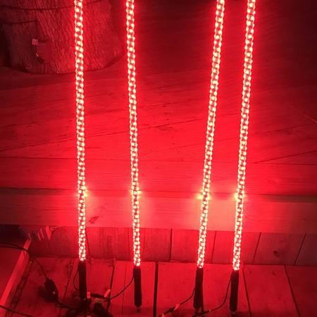 Photo 2pcs 3ft LED COLOR CHASING 4X4 ATV SXS WHIPS RZR CANAM YAMAHA KAWASAKI - $90 (Southwest Houston Or Galleria)