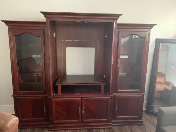 Photo 3 piece entertainment center - $200 (Houston-Montrose)
