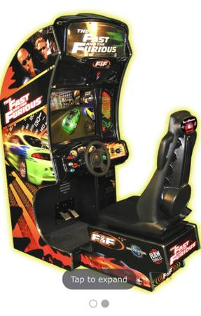 Photo Arcade size FAST and the FURIOUS Racing Game  - $2,000 (Katy  Richmond)