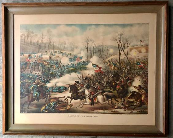 Photo Battle of Pea Ridge, Arkansas, published by Kurz and Allison Lithograp - $30 (610 and 290)