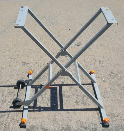Photo Chicago Electric Power Tools Tile Saw Stand with wheels - $145 (NW Cy Fair)