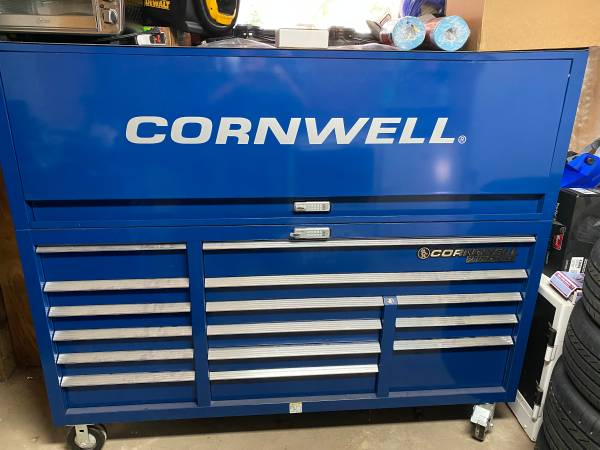 Photo Cornwell triple bank tool box and hutch - $3,300 (Bacliff)