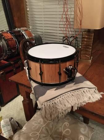 Photo DNH Drums Custom built Stave Snare Drum Hard Maple - $350 (Sugar Land)