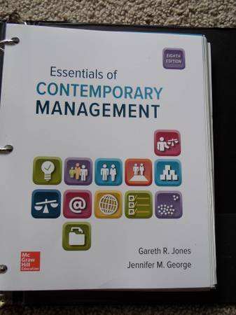 Photo Essentials of Contemporary Management 8th Ed - $100 (Humble  Kingwood)