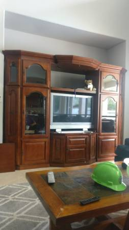 Photo Free living room TV display cabinet (Spring)