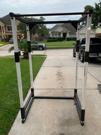 Photo Heavy Duty Squat Rack Power Cage - $280 (Houston)