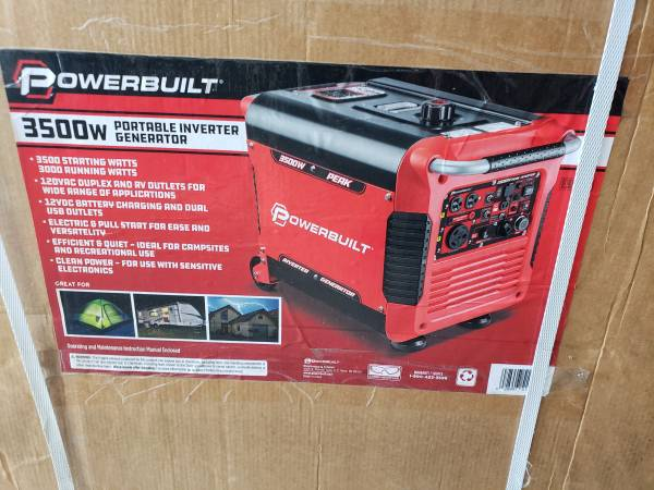 Photo Inverter generator 3500 watt new in box electric start - $700 (Pearland)