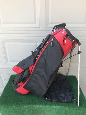 Photo New Burton Red  Black Golf Stand Bag - $100 (Northwest Houston near Jersey Village)