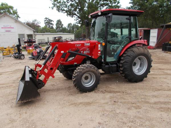 Photo New TYM T494 CAB diesel 4x4 tractor w front end loader (Magnolia)